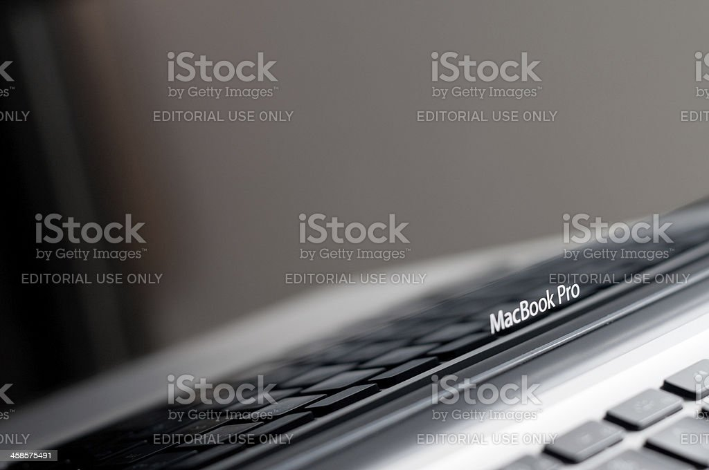 Apple Macintosh MacBook Pro 13 Inch Laptop Computer royalty-free stock photo