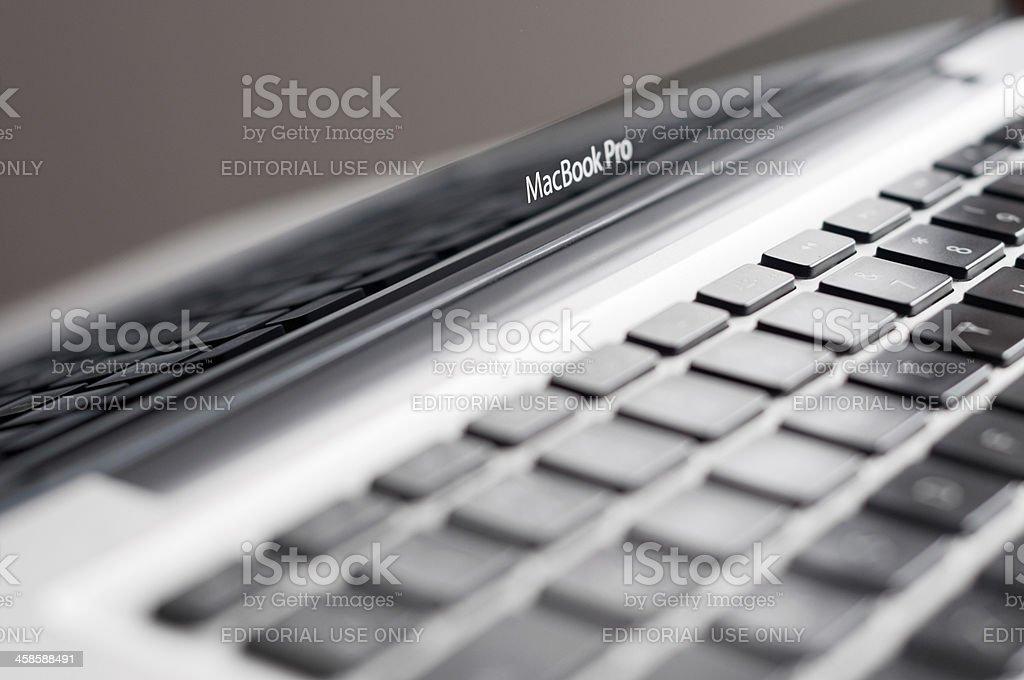 Apple Macintosh MacBook Pro 13' Laptop Computer royalty-free stock photo