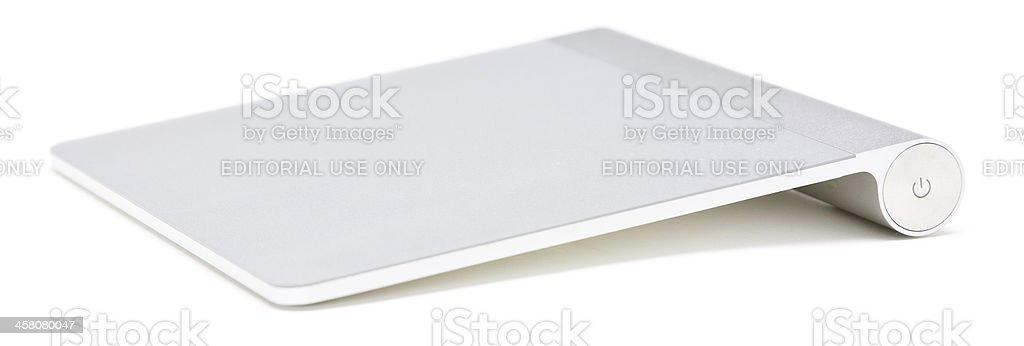 Apple Macintosh Magic Touchpad input device isolated stock photo