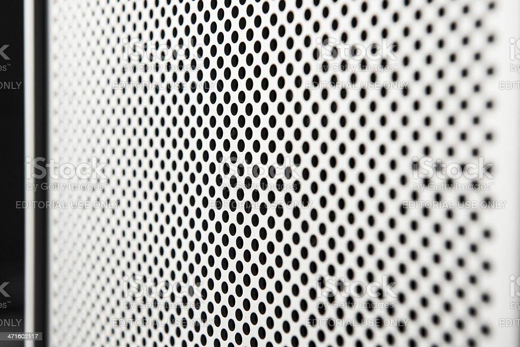 Apple Macintosh Modern Mac Pro Grey Computer Macro Texture stock photo