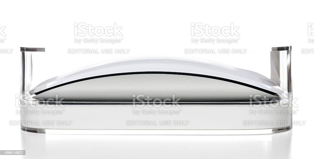 Apple Magic Mousein plastic box stock photo