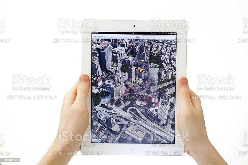 Apple Maps royalty-free stock photo