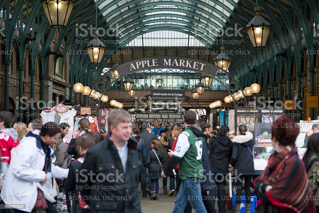 Apple Market, Covent Garden, London stock photo
