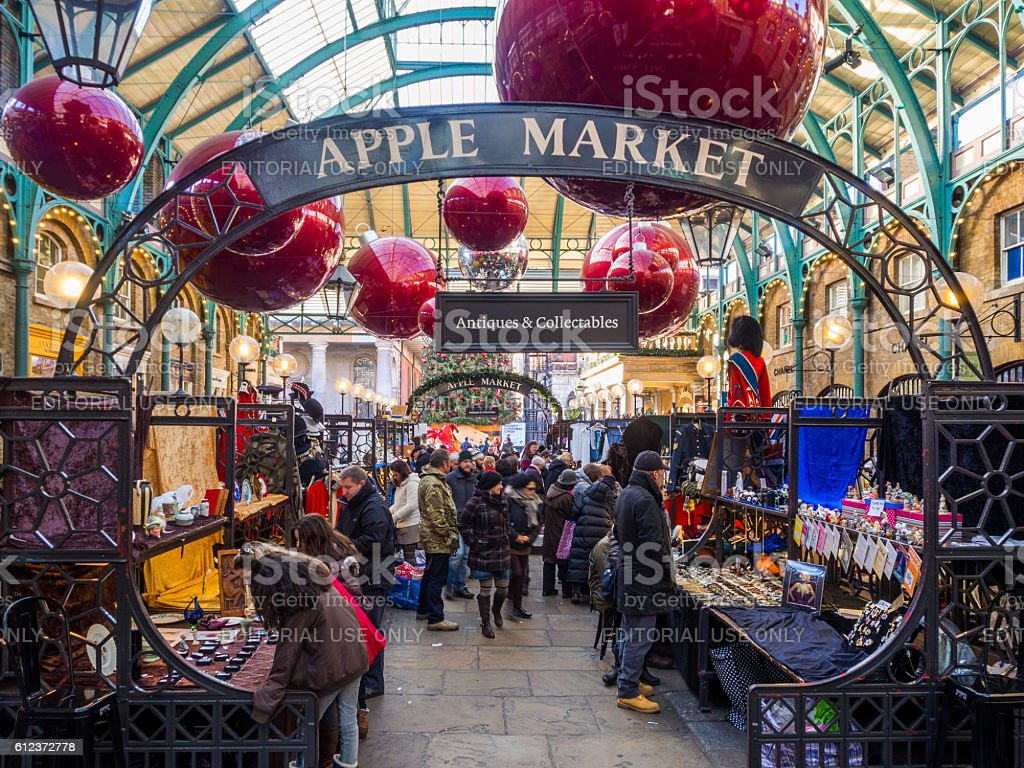 Apple Market in London, United Kingdom stock photo