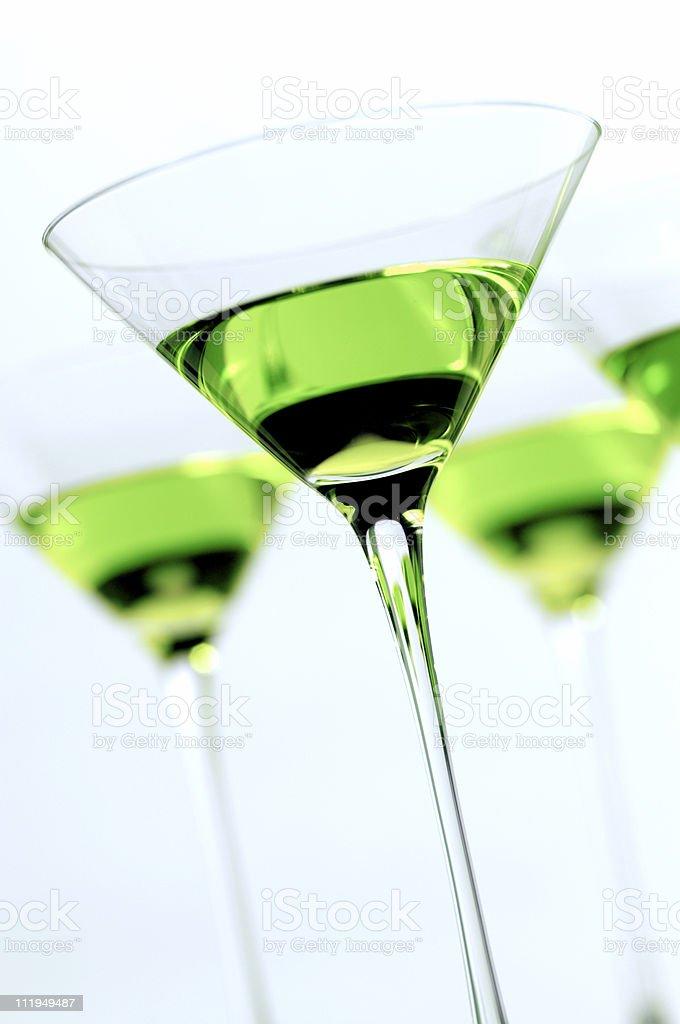 Apple Martini Cocktail on White royalty-free stock photo