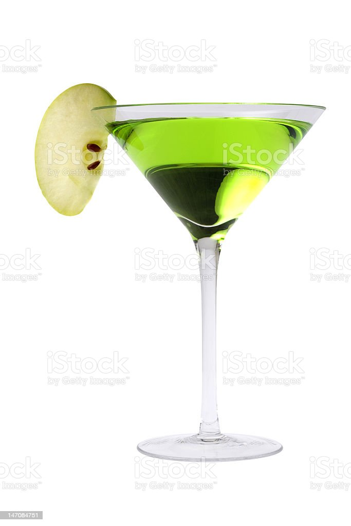 Apple martini cocktail stock photo