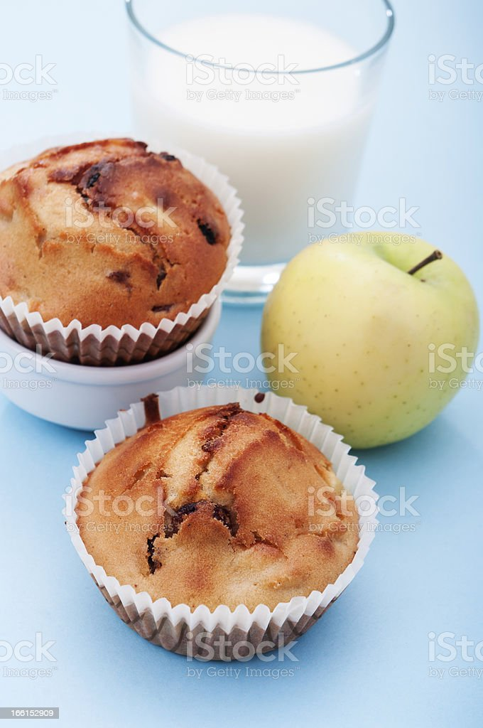 apple muffin royalty-free stock photo