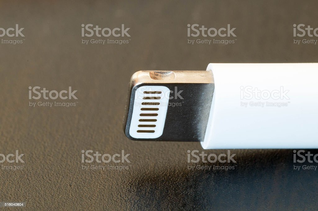Apple new generation charger plug stock photo