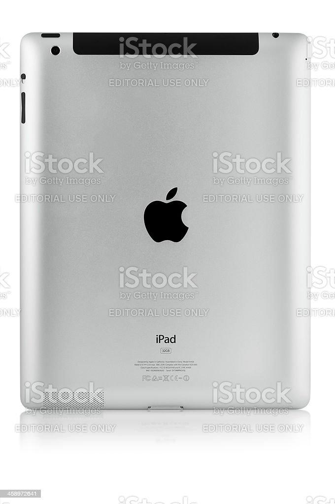 Apple New iPad - rear view royalty-free stock photo