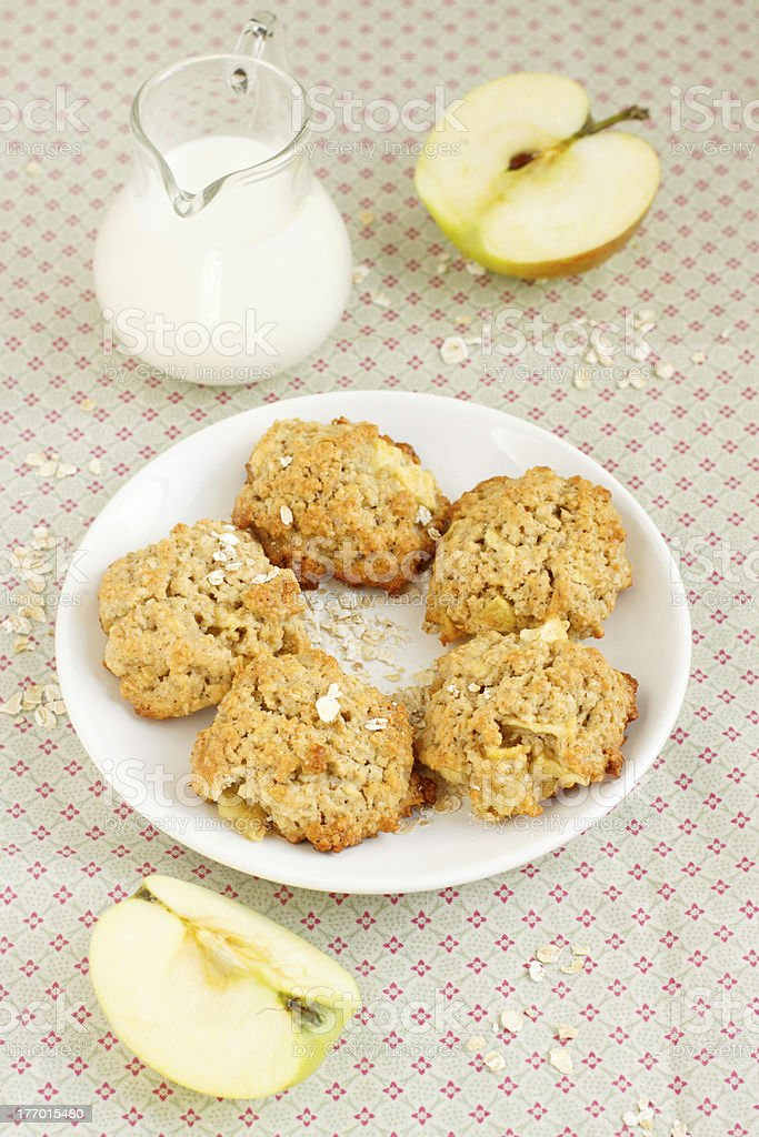 Apple oatmeal cookies royalty-free stock photo