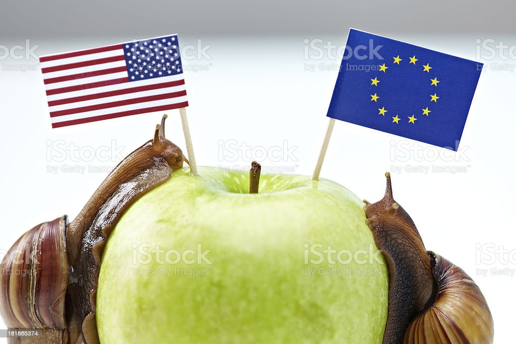 Apple of political discord royalty-free stock photo