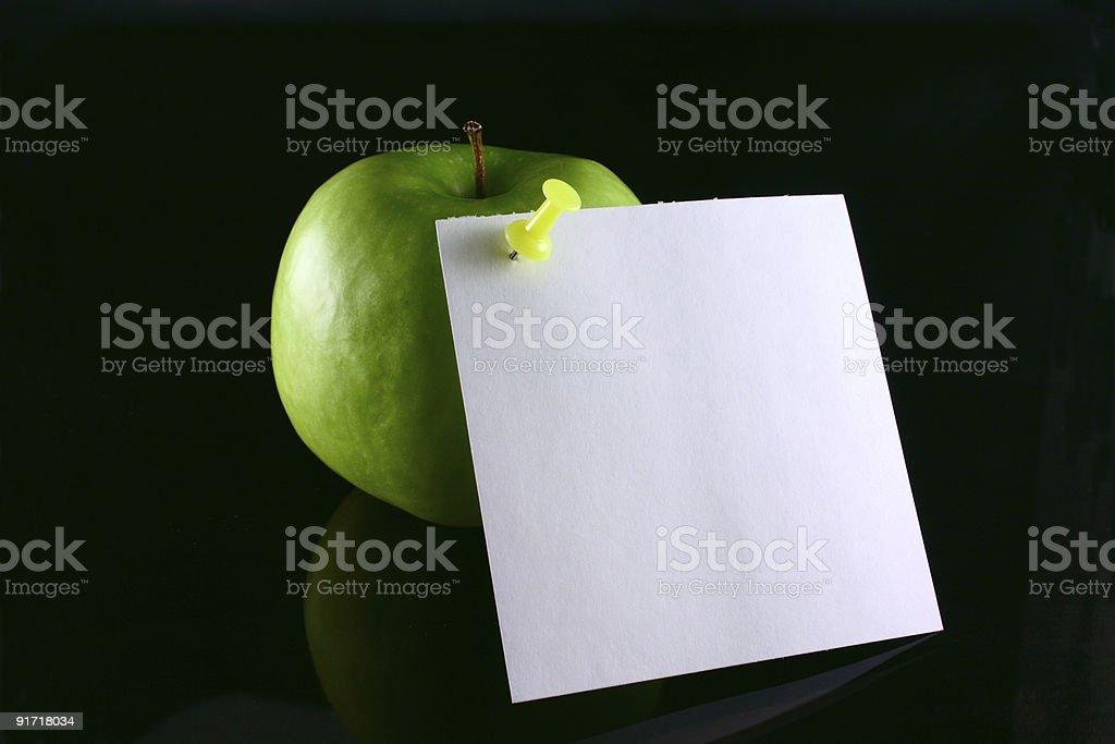 Jabłko z Uwaga zbiór zdjęć royalty-free