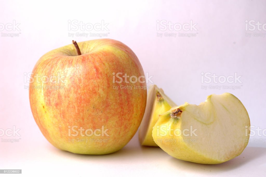 apple on a white background stock photo