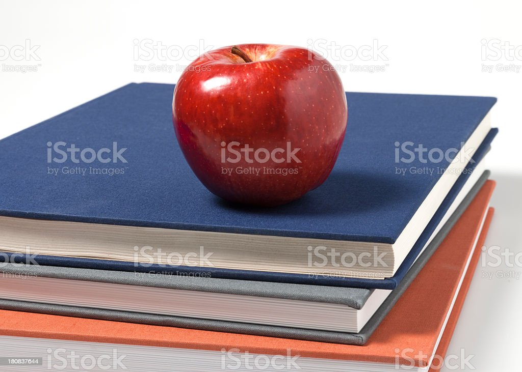 Apple On Books royalty-free stock photo