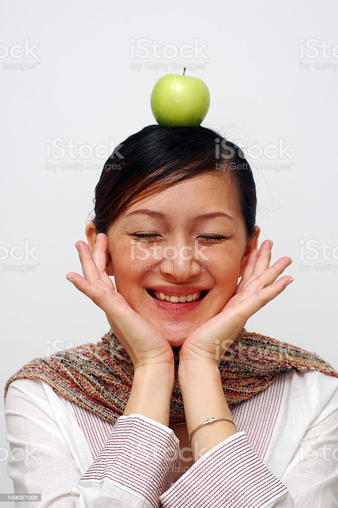 Apple On Head stock photo