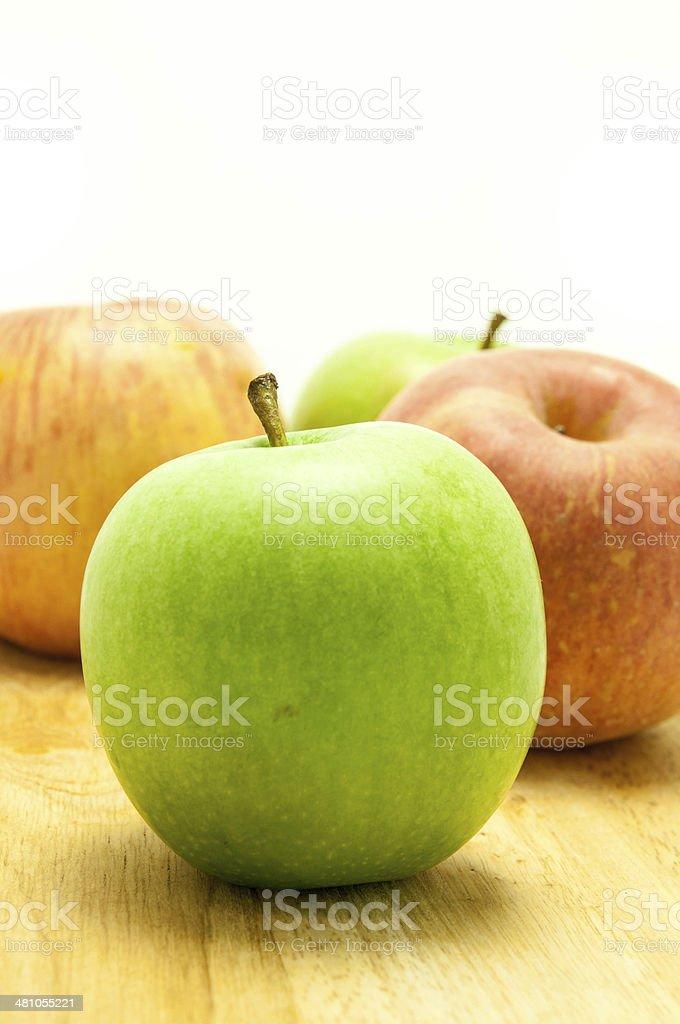 apple on isolated white stock photo