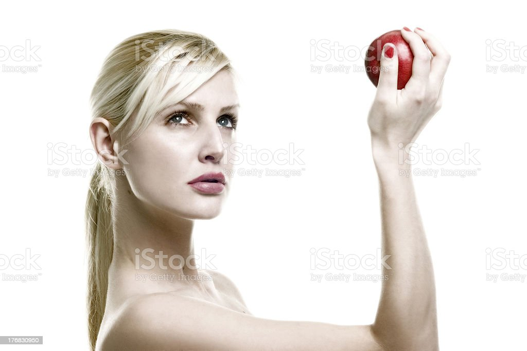 apple on the hand royalty-free stock photo