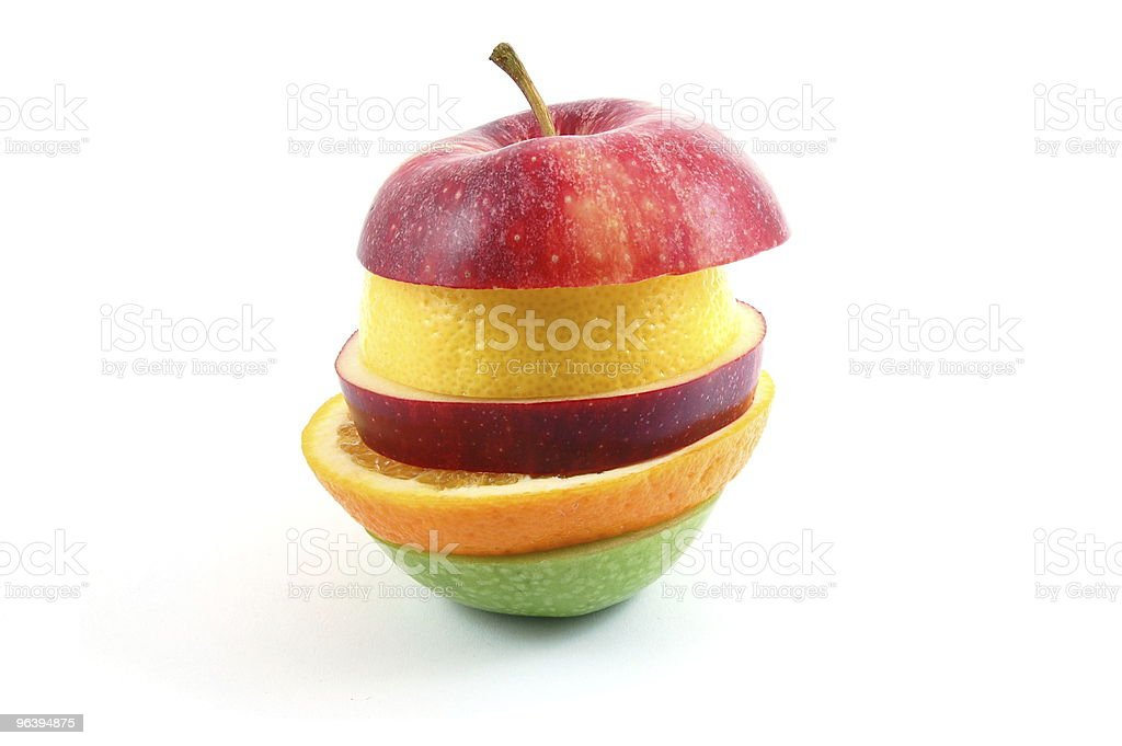 Apple on white background royalty-free stock photo
