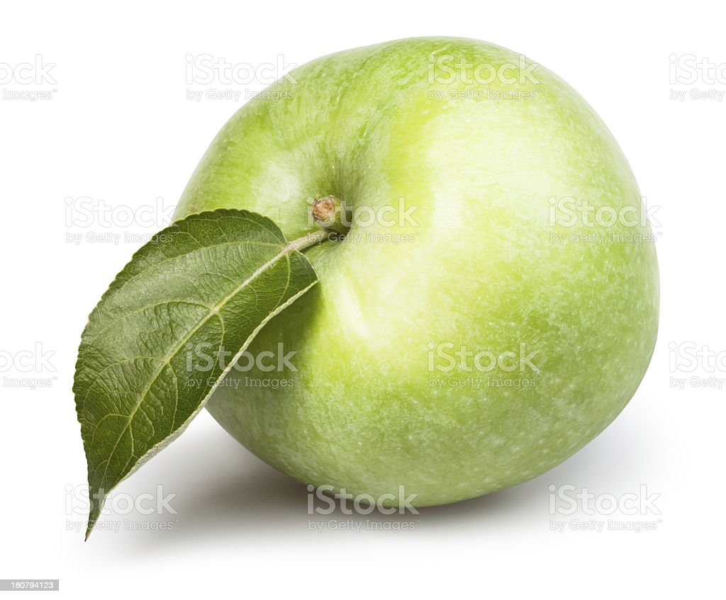 apple one leaf royalty-free stock photo