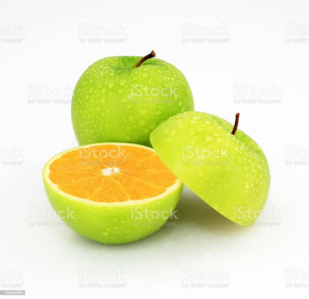 Apple or orange stock photo