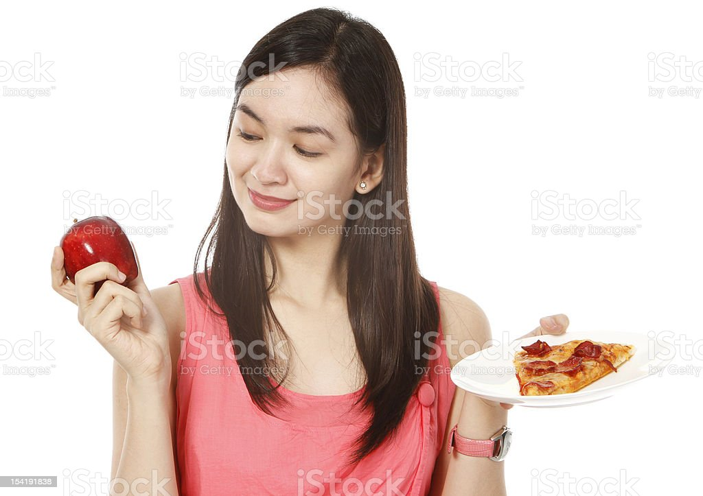 Apple or Pizza? royalty-free stock photo