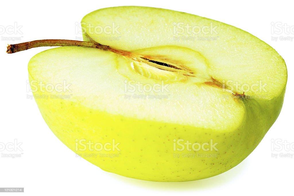 Apple over white stock photo