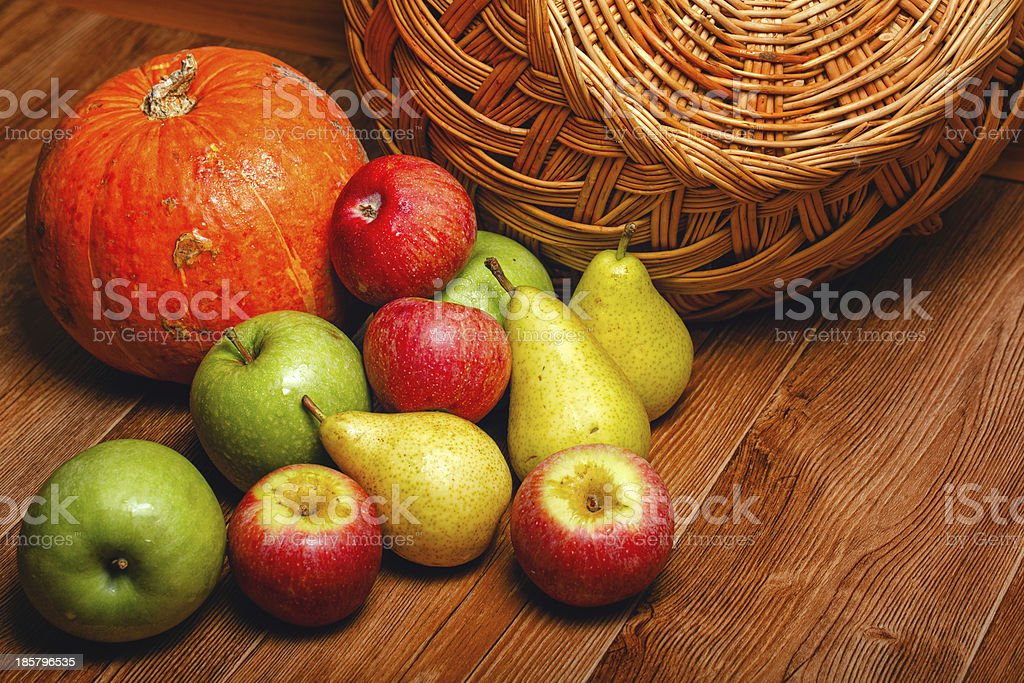 Apple, pear, pumpkin royalty-free stock photo