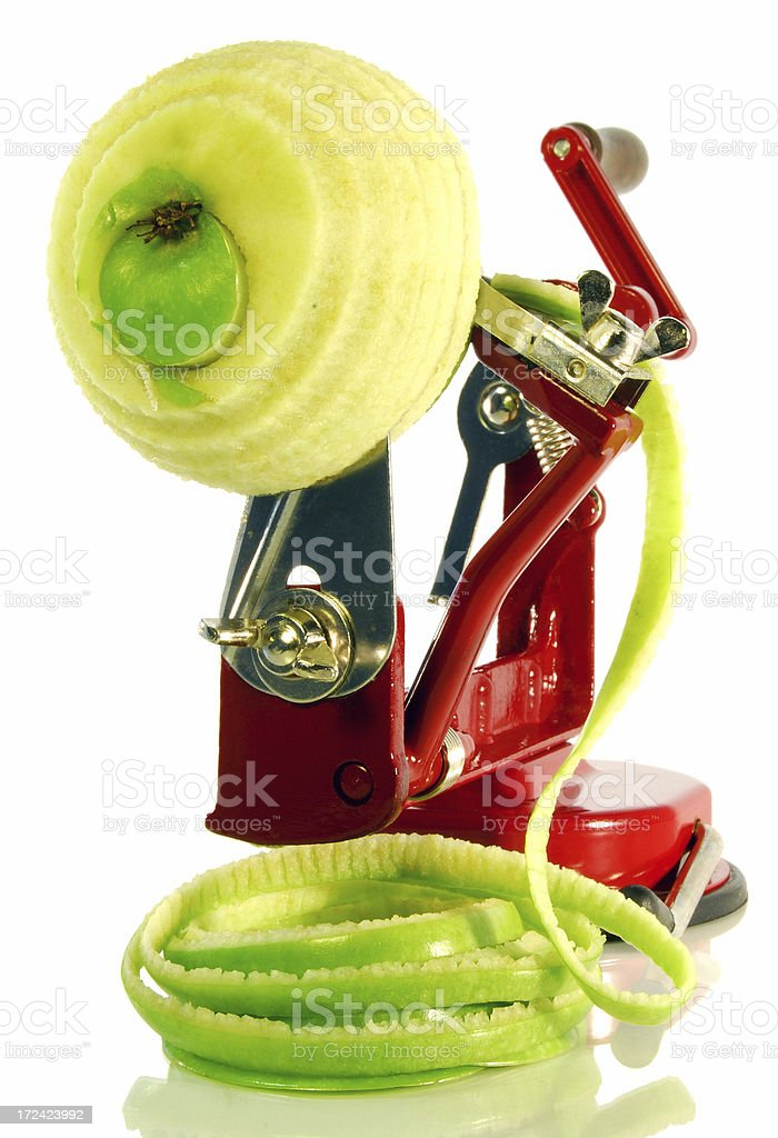 Apple peeler tool stock photo