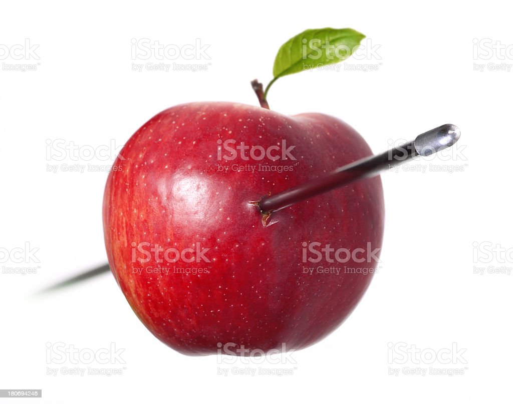apple perforated stock photo