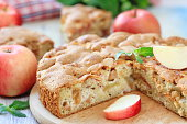 Apple pie and fresh fruit