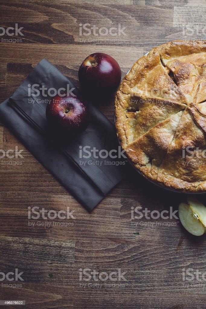 Apple Pie Background stock photo
