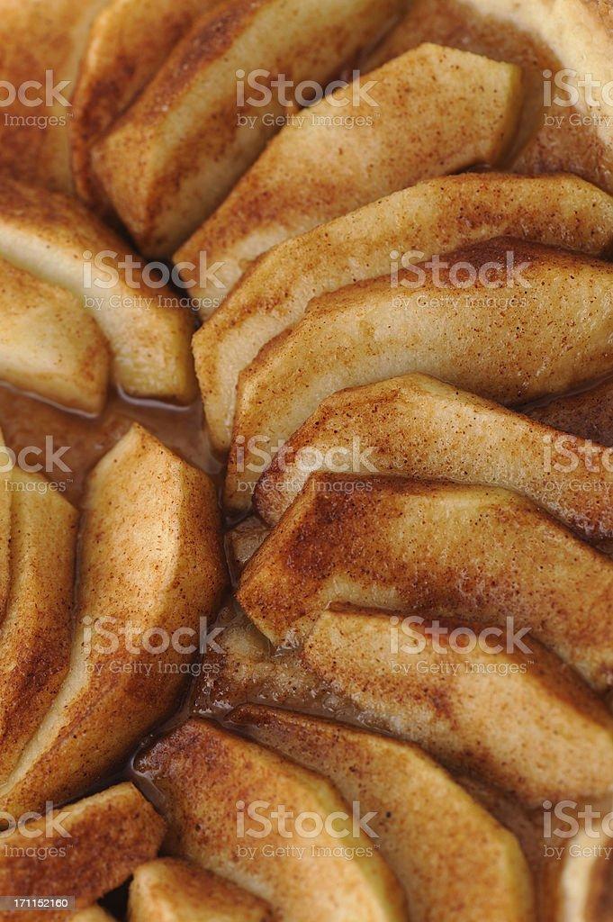 Apple Pie Cake Close-Up Upright stock photo