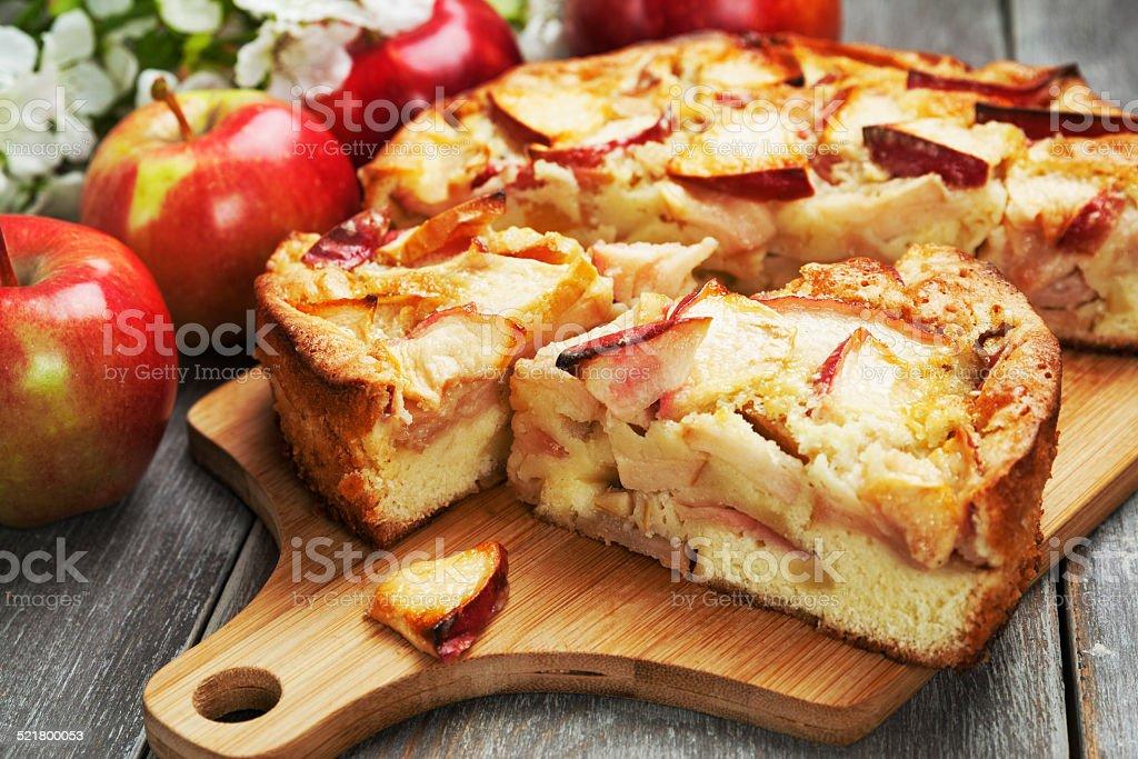Apple pie. charlotte stock photo