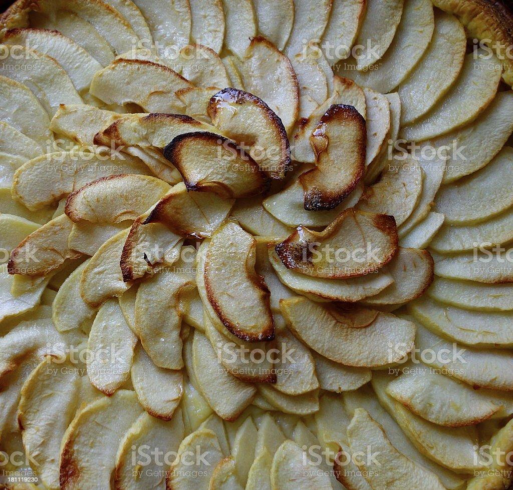 apple pie : famous French Tarte Tatin stock photo