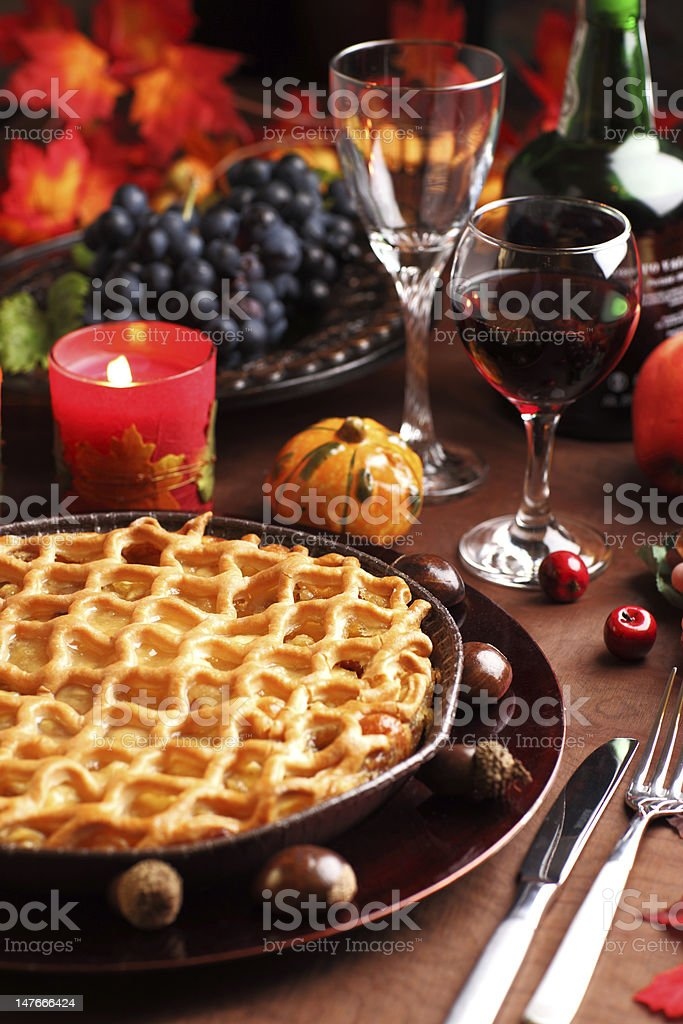 Apple pie for Thanksgiving royalty-free stock photo