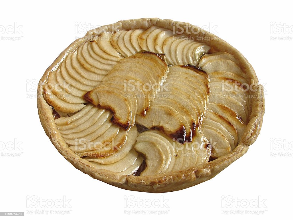Apple pie isolated royalty-free stock photo