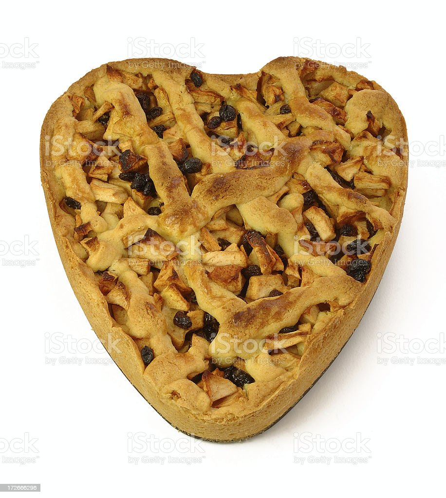 Apple pie, made with love royalty-free stock photo
