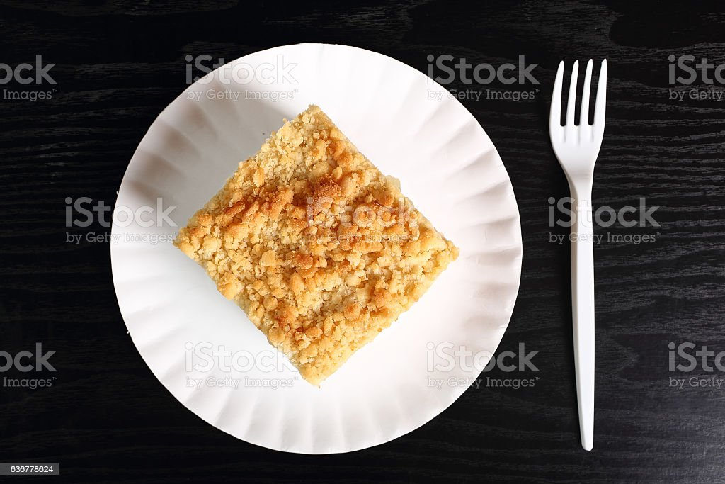 Apple Pie on disposable paper plate stock photo