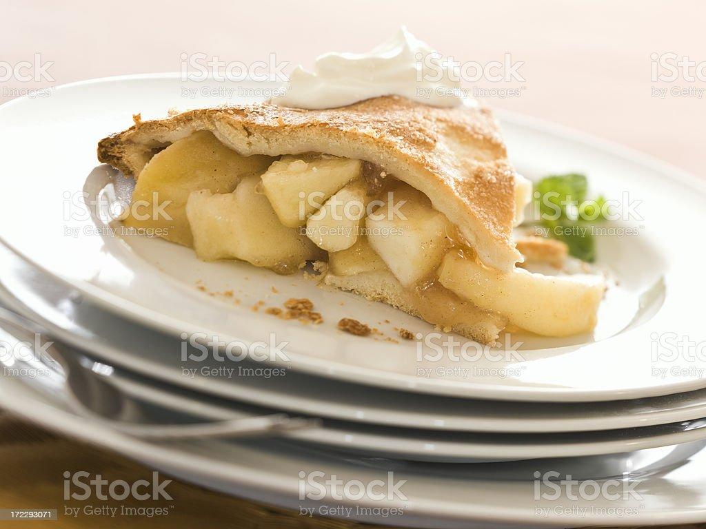 apple pie (slice of) royalty-free stock photo