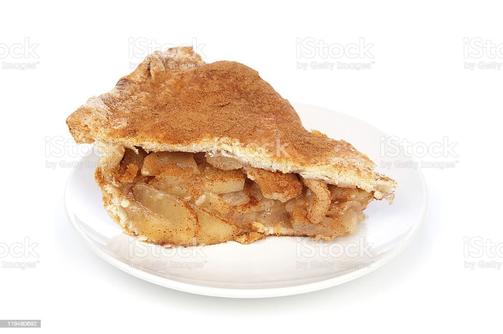 Apple Pie Slice stock photo