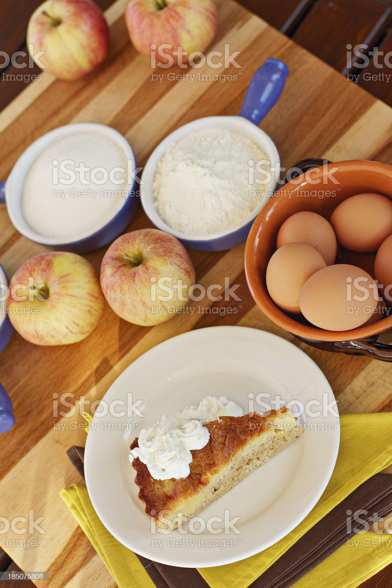 Apple pie slice royalty-free stock photo
