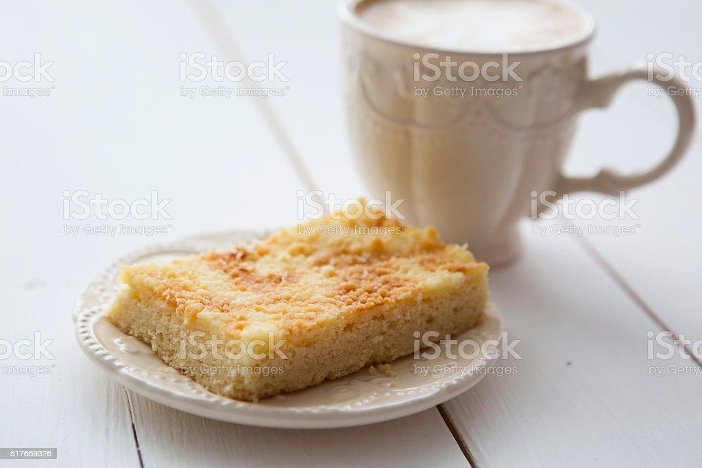 Apple pie with coffee stock photo