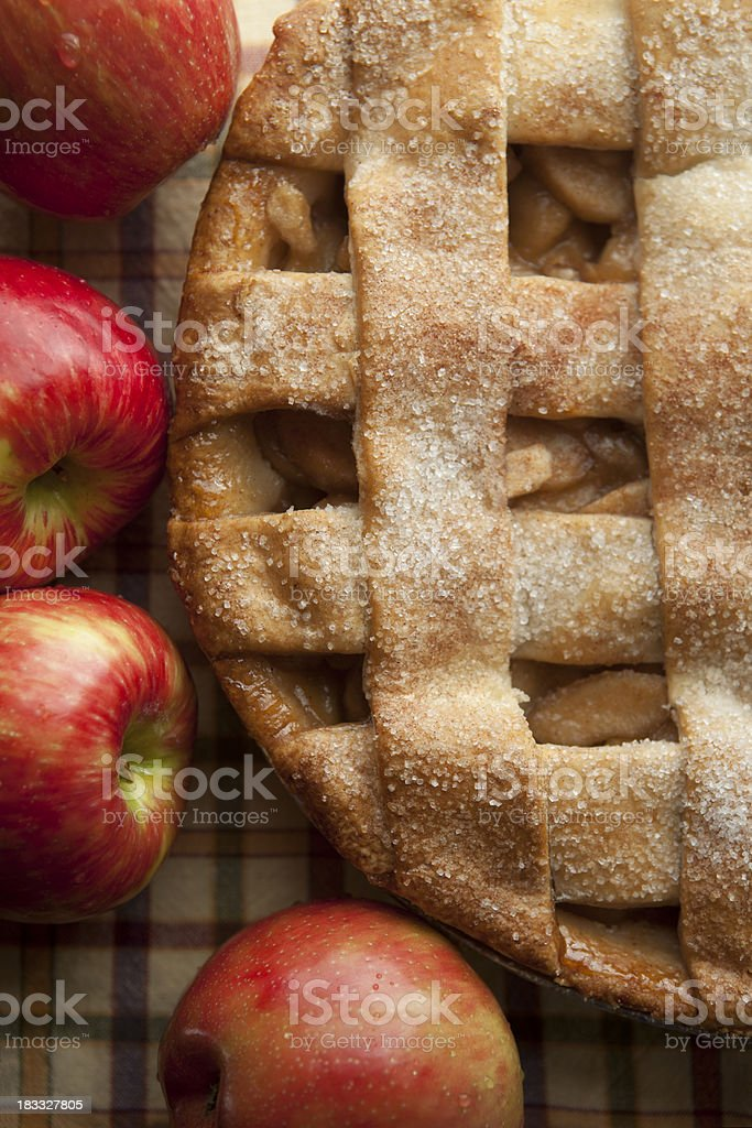 apple pie with lattice crust royalty-free stock photo