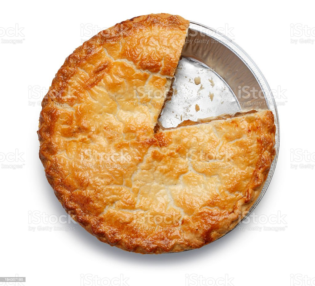 Apple Pie With One Missing Piece royalty-free stock photo