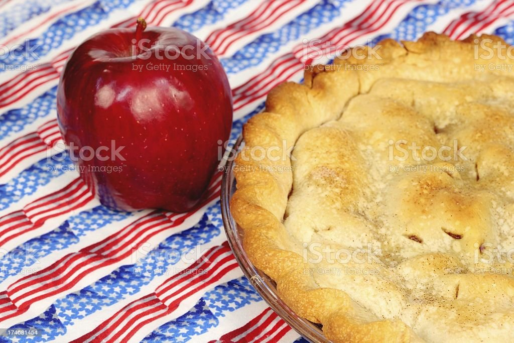 Apple Pie with Stars and Stripes royalty-free stock photo
