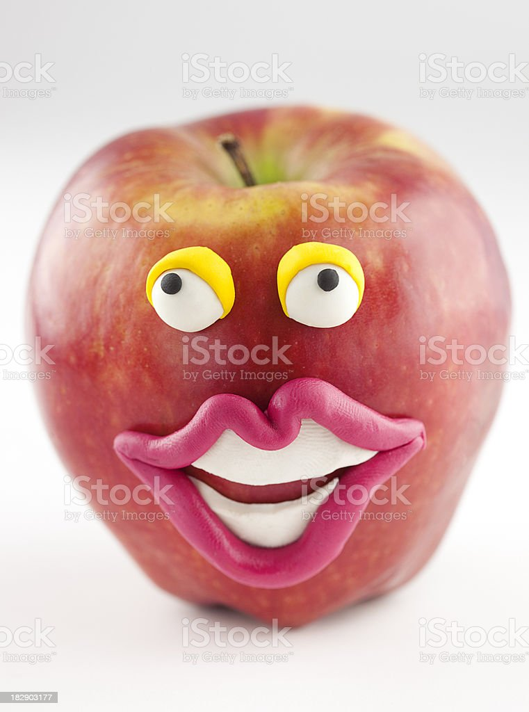 Apple portrait royalty-free stock photo