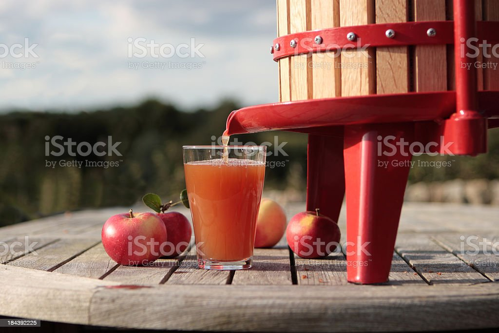 Apple Press stock photo