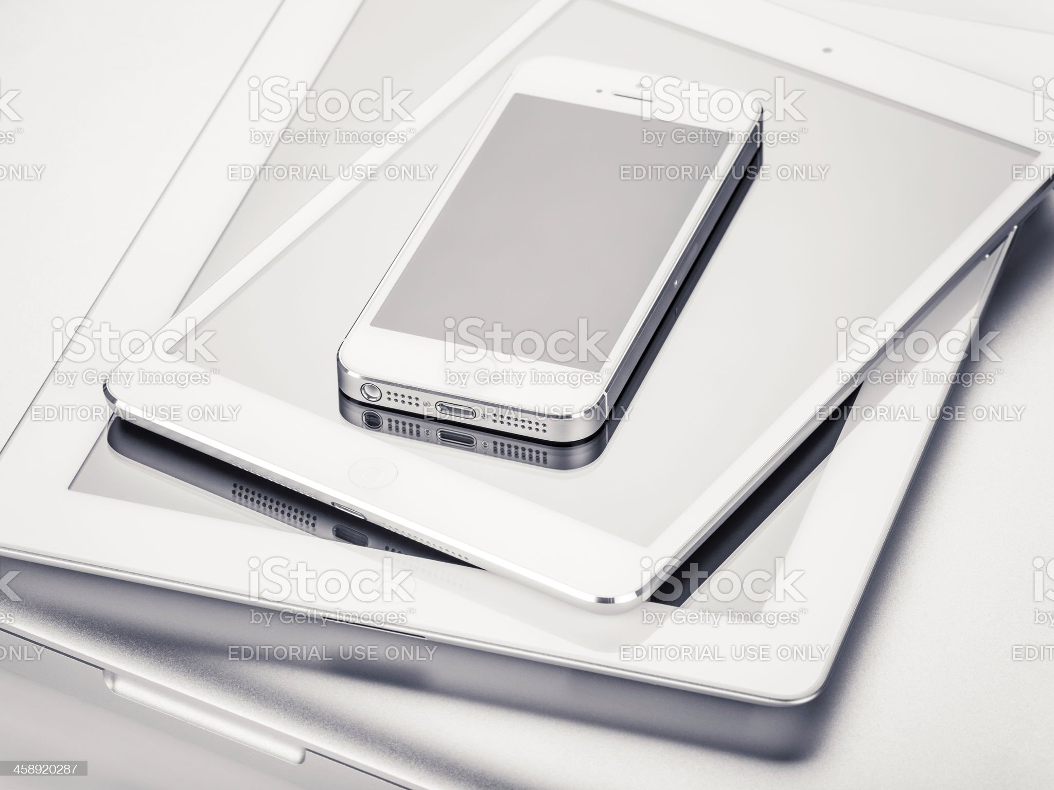 Apple Products (Isolated on White) royalty-free stock photo