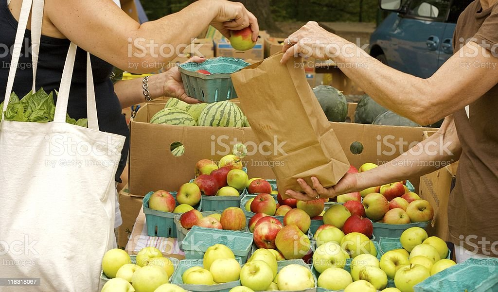 Apple purchase royalty-free stock photo