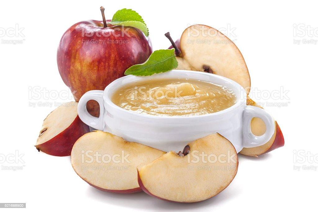 Apple puree stock photo